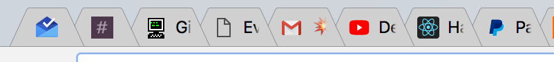 A lot of open tabs